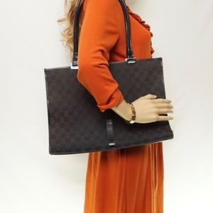 Auth Gucci Jackie Leather Tote Bag #887G45